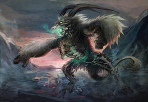 Undead Arctic Creature by arnistotle