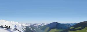 The Alps - Winter vs Summer by STlNKER