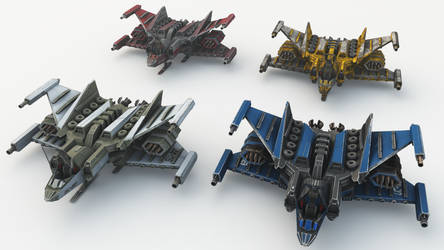 Hades Starfighter Mk2 4 varieties by madaboutgames