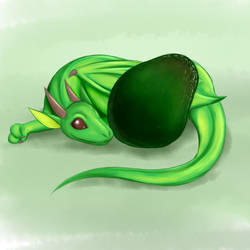 Avocado Dragon by lycovore