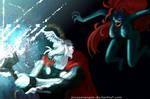 Thor vs Venom by arceeenergon