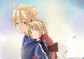 Arthur and Mordred by Chaoskun02
