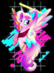 Synthwave Princess Cadance by II-Art