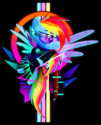 Synthwave Rainbow Dash by II-Art