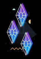 Synthwave Rarity Cutie Mark by II-Art