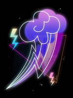 Synthwave Rainbow Dash Cutie Mark by II-Art