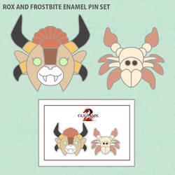 For Fans by Fans: Rox and Frostbite Enamel Pin Set by II-Art