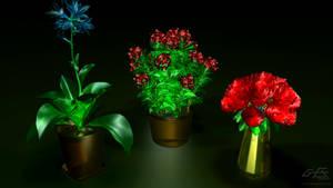 Glassy Flowers by gfx-micdi-designs