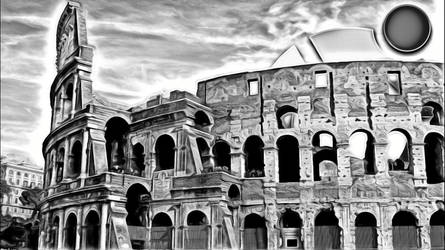 Painting Coloseum by aldodoffizi