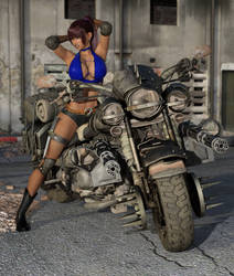 Biker girl with her bike contest by VyseDyne