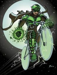 COMMISSION: Bike Warrior by ReeceFriesen