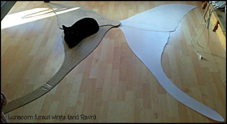 Lunacorn wings--and Ravn by swandog