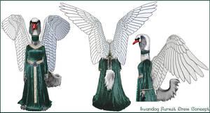 Swandog Fursuit Dress Concept by swandog