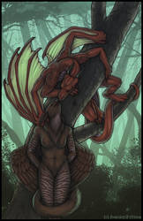 Forest Kiss--Collab by swandog