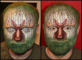 'Birchwood Bull' Facepaint by swandog