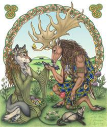 Celtic Kiss by swandog