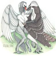 Swandog and Sayh by swandog
