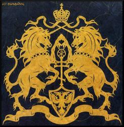 Unicorn Crest Papercutting by swandog