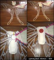Lunacorn Wings - WIP by swandog