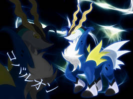 shiny Cobalion wallpaper by Elsdrake