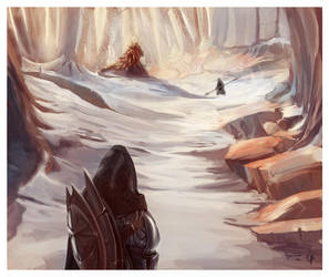 TESV: Skyrim - Dragon Hunt by CohenR