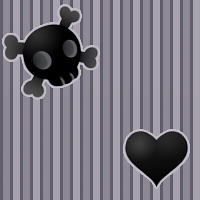 Hearts and Skulls Pattern by Kikariz-Stock