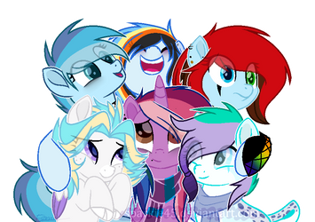 Mane 6 Reunited - Base Oc by Sparkie45