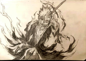 hollow ichigo (manifested from darkness) by needformang