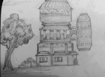 origanal aztech building by needformang