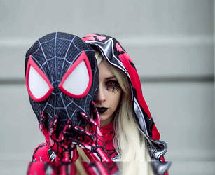 Carnage and Spidey head by kaorifrost