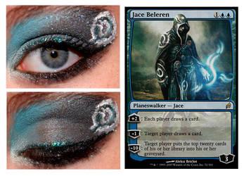 Magic Card Makeup: Jace Beleren by nazzara