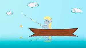 Derpy is fishing by GAlekz