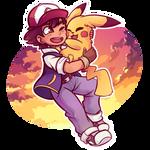 a boy and his pikachu by mizartz