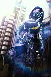 Tali'Zorah - Mass Effect 2 by cloud-dark1470