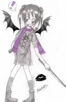 B n' W Ninja with Purple by CherushiiCherries