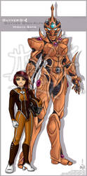 OC: II - Guyver-Giga Alfa - Miraya Sato by Lucithea
