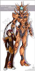 OC: III - Zoa-Guyver Miralfa - Miraya Imakarum by Lucithea