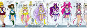 SM: Old Senshi - redesign by Lucithea