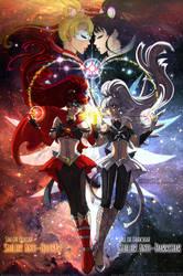 Comm: Anti-Senshi - Quasar and Darkstar by Lucithea