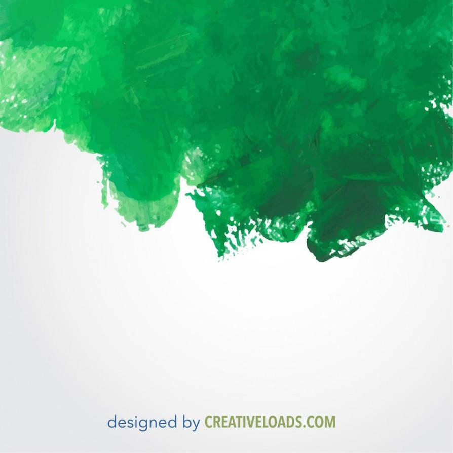 Green Watercolor Vector by Roberis