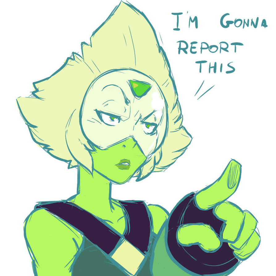 A little doodle done while practicing with drawing Peridot for the special picture of the comic