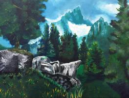 Skyrim Landscape by AshliLynS