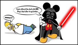 Darth Mickey by dan232323