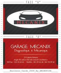 VISITED CARD ' MECANIX ' by AMINOVISH