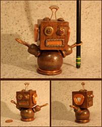 Robot Pencil Holder by Near-Miss-Nic