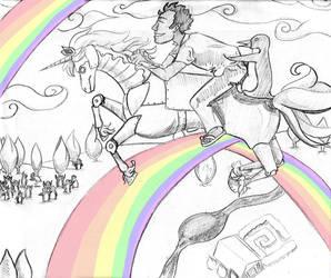 Unicorns and rainbows by Daria-rat