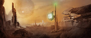 Borderlands Panoramic by Azagth