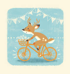 Deer on a Bicycle by maikn