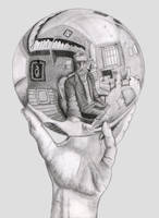 Hand with Reflecting Sphere by Kirstdee