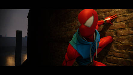 Spider-Man PS4 - Scarlet Wall Perch 3 by theBmZ